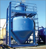 Silos for cement slurry collection, combined with a tubular dust collector filter «1STС-15D»